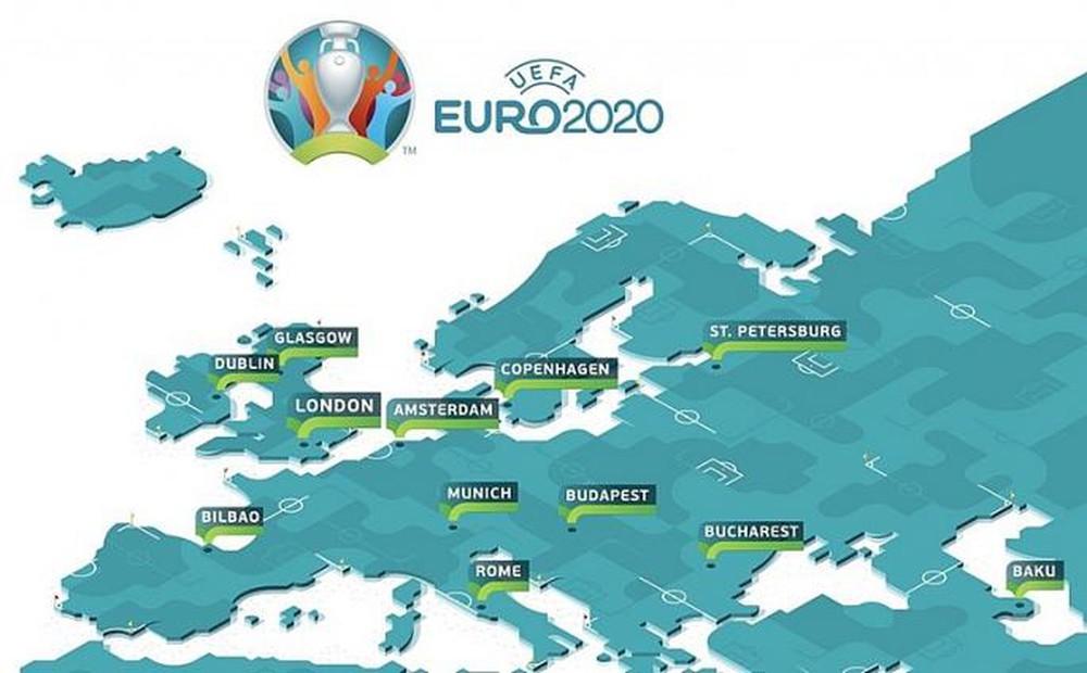 Danh sách chủ nhà vòng chung kết Euro 2020 - Euro888