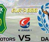 Soi kèo Jeonbuk Hyundai Motors vs Daegu FC – VĐQG Hàn Quốc - 24/05/2020 - Euro888