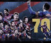 Bàn thắng thứ 700 của Messi không đủ sức giúp Barca tỏa sáng- Euro888
