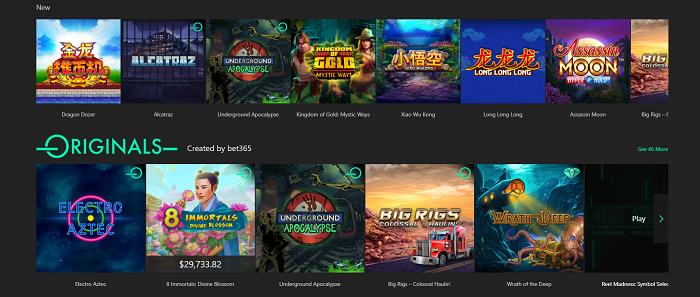 Bet365 có kho trò chơi vô cùng đa dạng