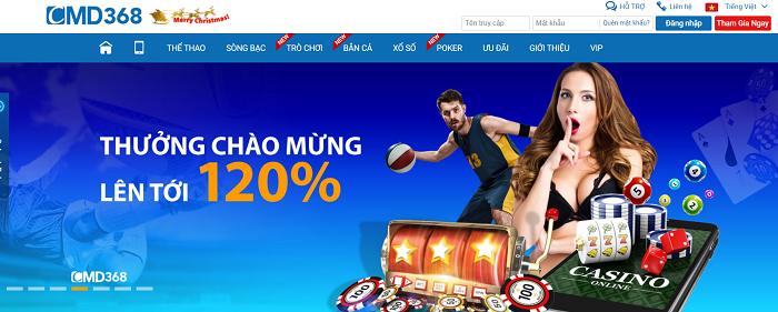 CMD368 là nhà cái cá cược trực tuyến số 1 Châu Á
